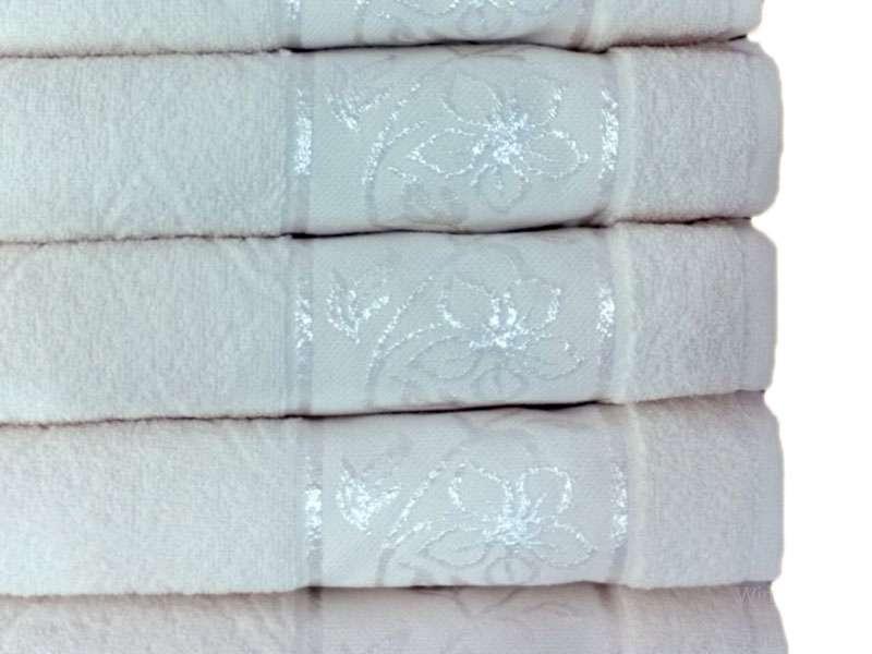 Çınar Jakarlı Havlu Beyaz 50x85