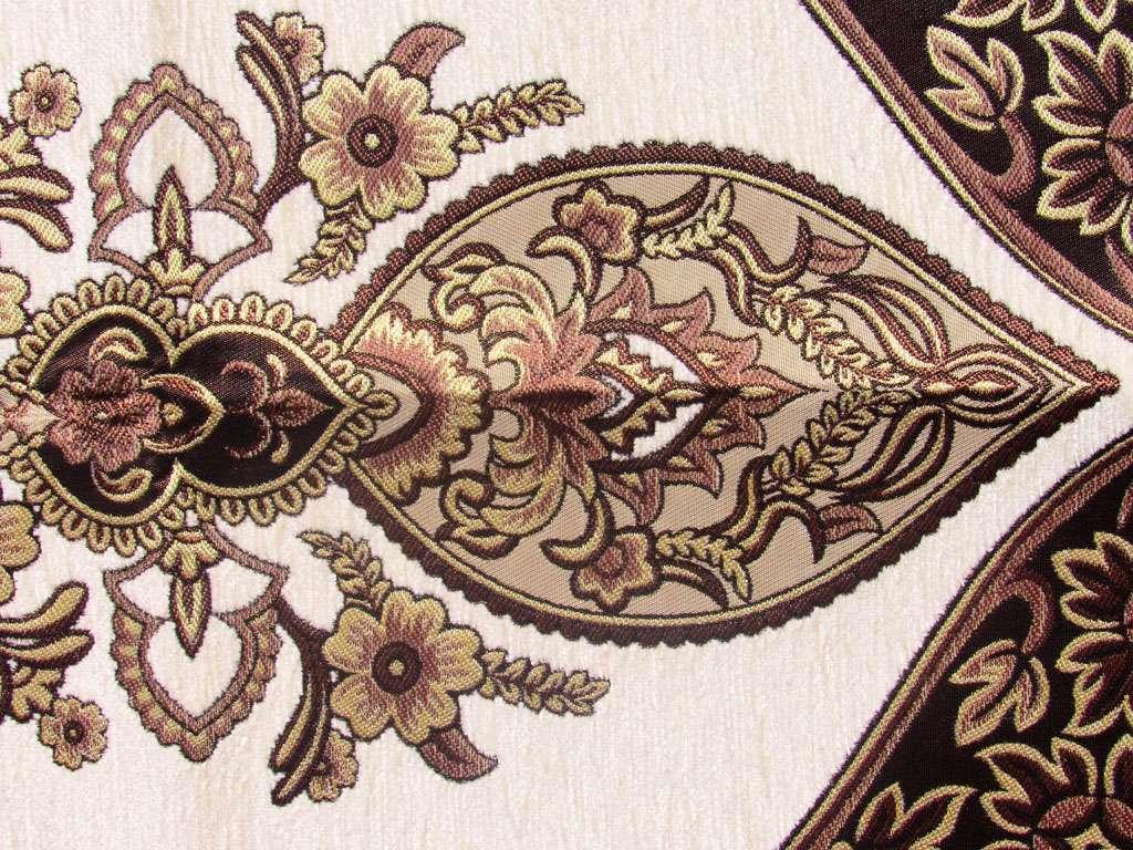 Seccade Sarı Tonlarında Lüx Şönil Seccade