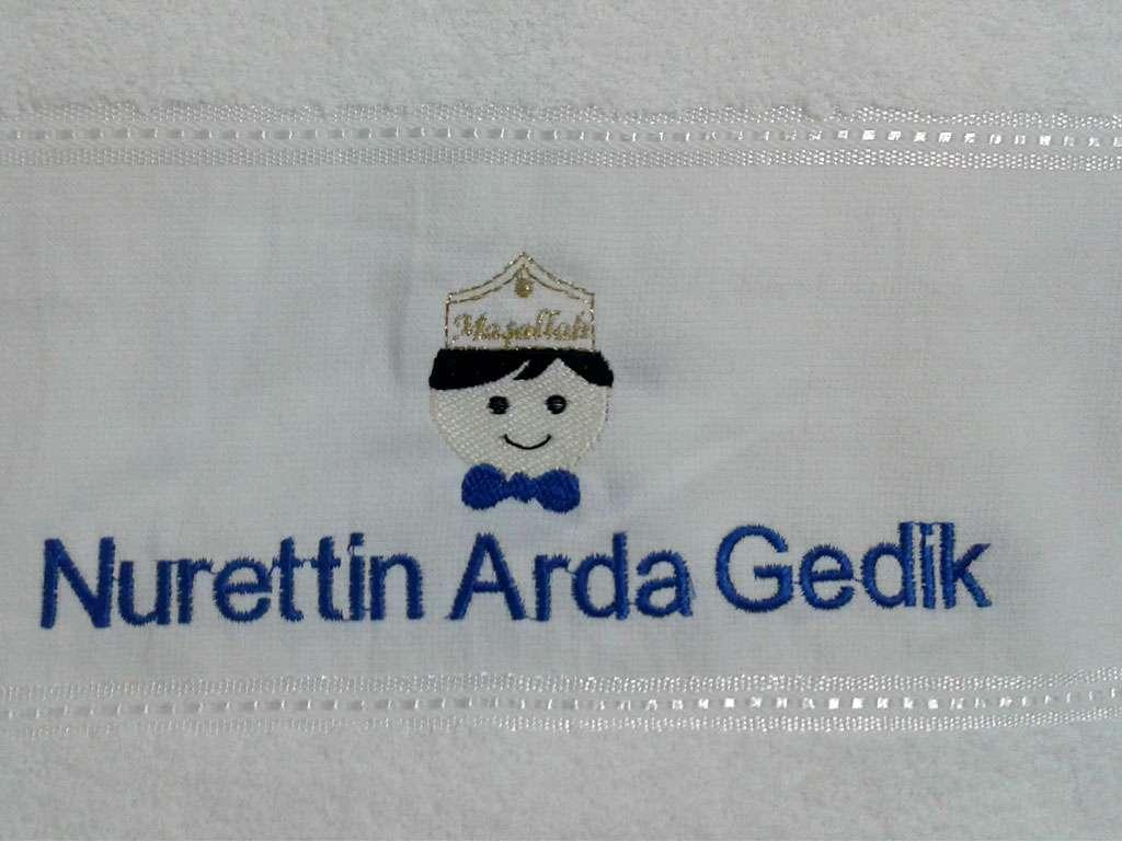 İsim Yazılı Sünnet Havlusu 50x80 Nurettin