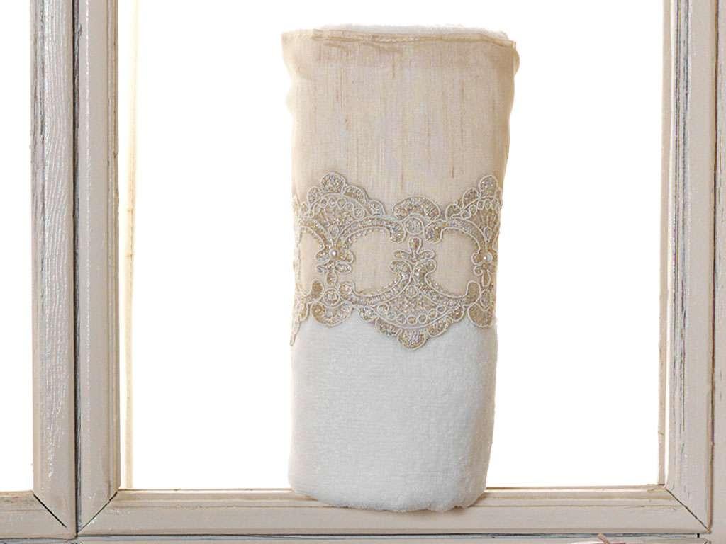Fransız Güpürlü 50x90 Kadife Havlu Buket