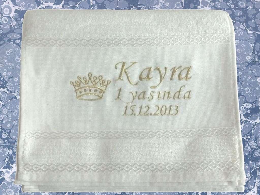 Kişiye Özel İsim Yazılı 30x50  Mevlüt Havlusu