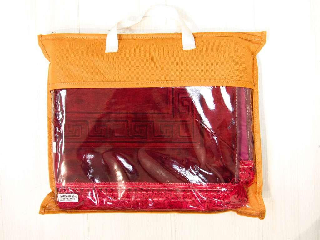 Seccade Kırmızı Renginde  Süper Lüx Peluş Hediyelik Seccade