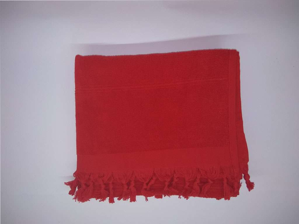 Havlu Peştemal Saçaklı %100 Penye Pamuk 80x180 Kırmızı