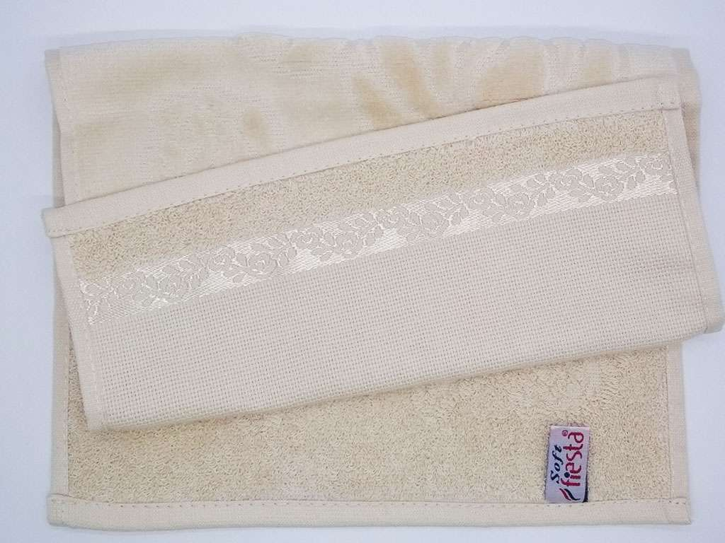 12'li  Fiesta Soft Havlu 30*50 Etaminli Havlu Kanaviçe İşlemelik Renkli