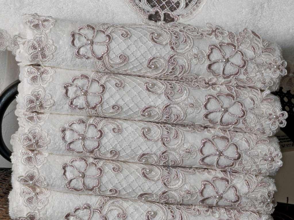 Fransız Güpürlü 50x90 Bamboo Havlu Mina Anna Karina