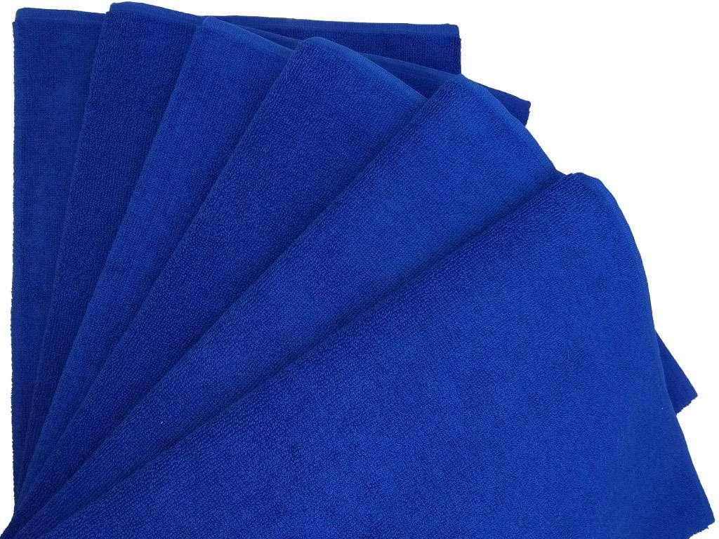 12'li Nurpak Mavi Ağır Kuaför Havlusu Berber Havlusu