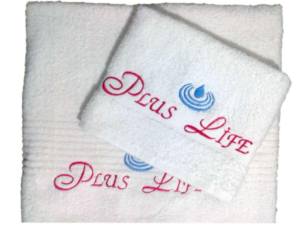 Logolu Kurumsal Güzellik Salonu Havlu Duş Baş Set Plus