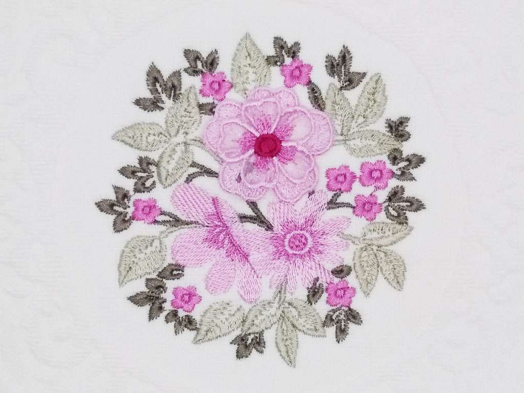 12'li Şaheser Beatrice Serisi 3D Çiçek Nakışlı 30*50 Mutfak Havlusu