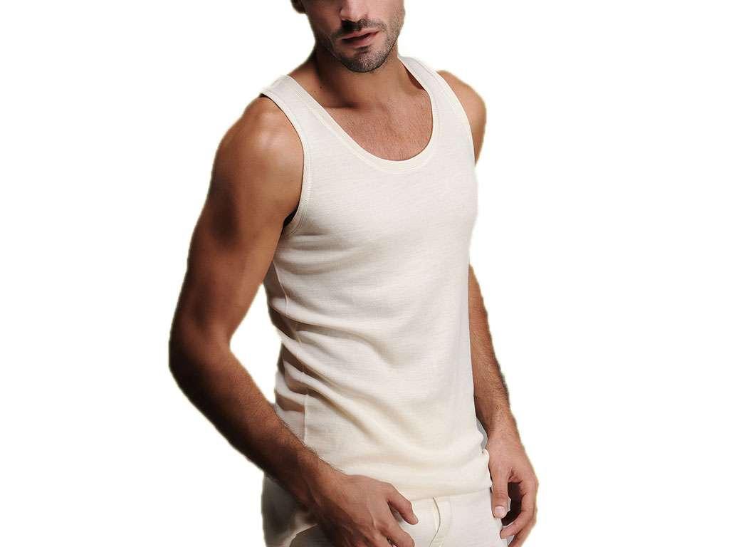 Hasyün %100 Yün Erkek Atlet Woolmark Sertifikalı Ekoteks Belgeli