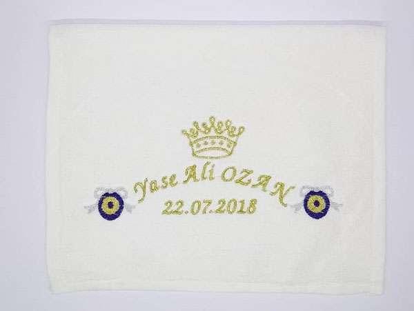 İsim Yazılı 30x50 Sünnet Havlusu Dağıtmalık Hediye Tek Kat Yase Ali Ozan