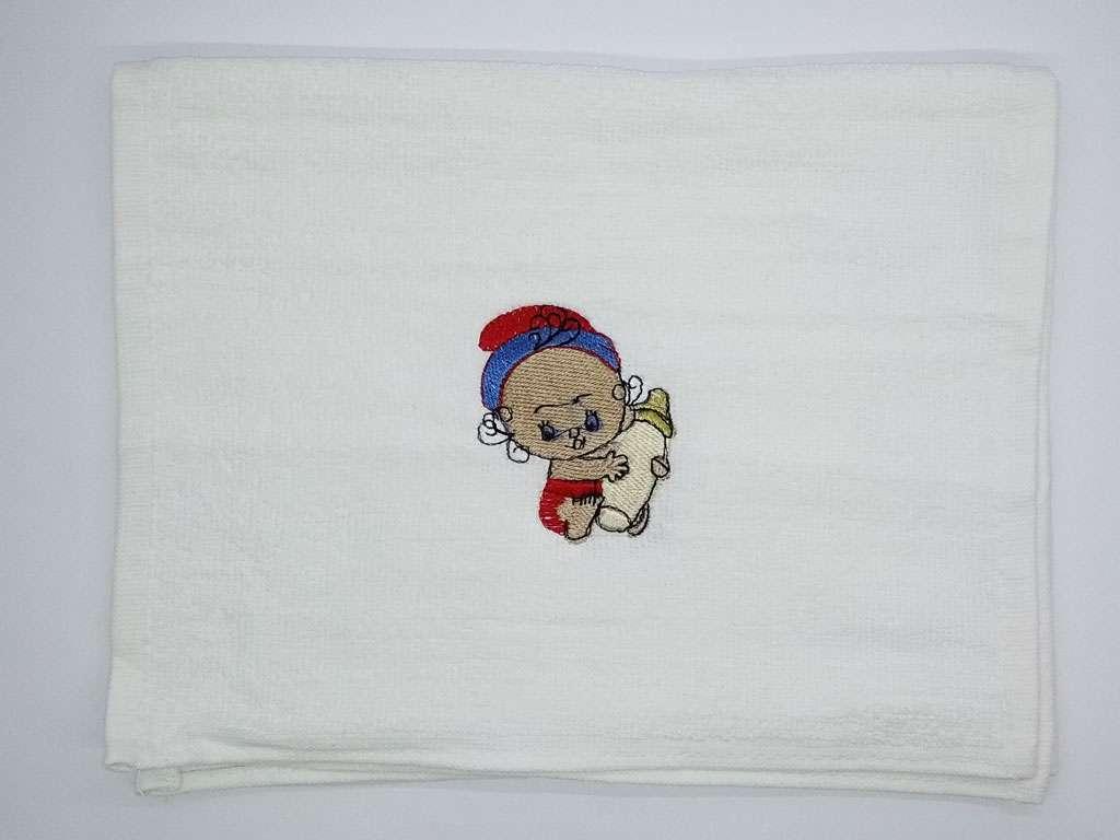 12'li Özpak Bebek Desenli Pamuklu 30*50 Beyaz Mutfak Havlusu