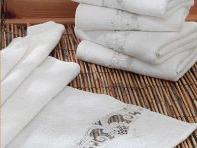6'lı Dantela Vita Ara Uç Fransız Güpürlü Bamboo 50*90 Havlu