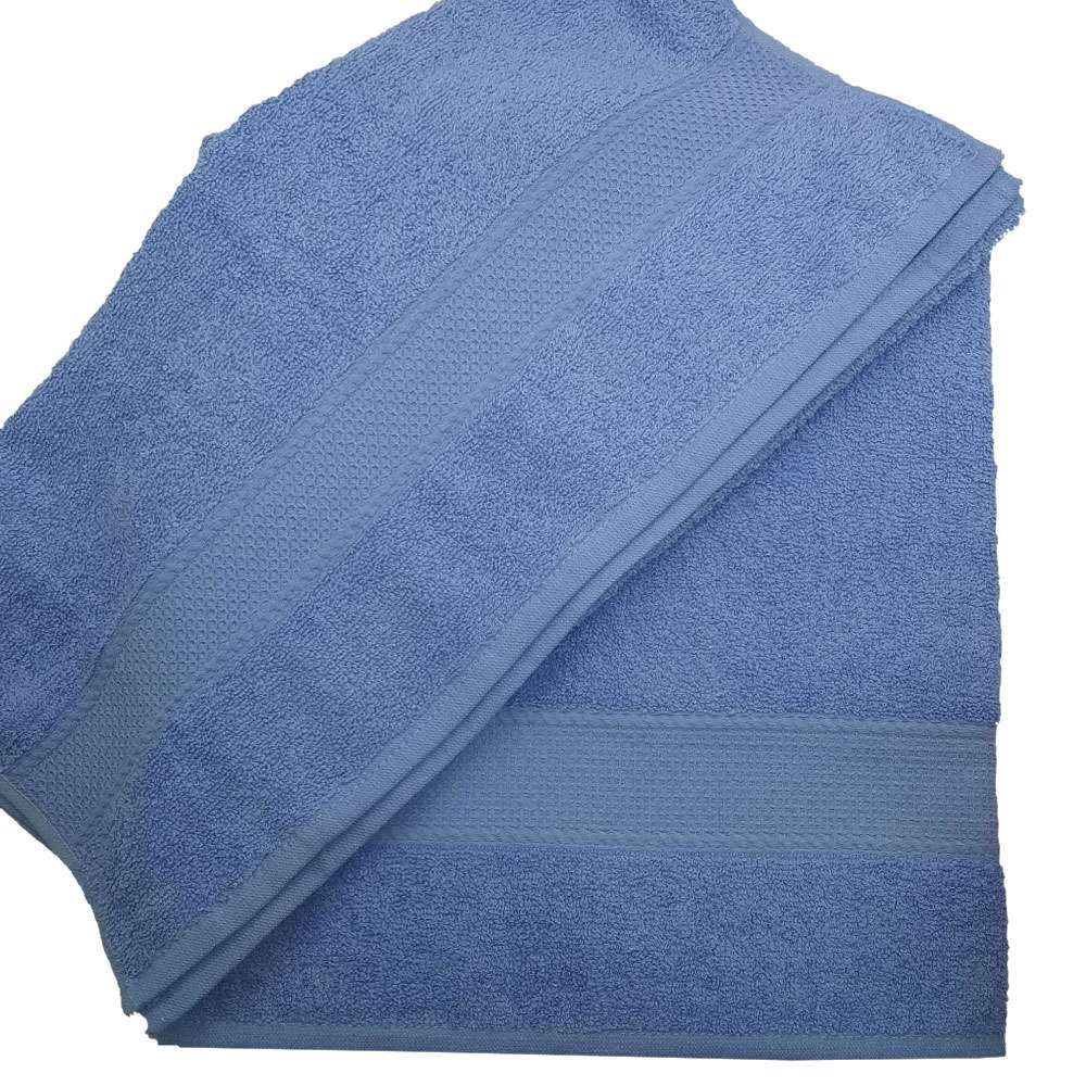 Belinda 2'li Set Baş Havlusu ve Banyo Havlusu Mavi