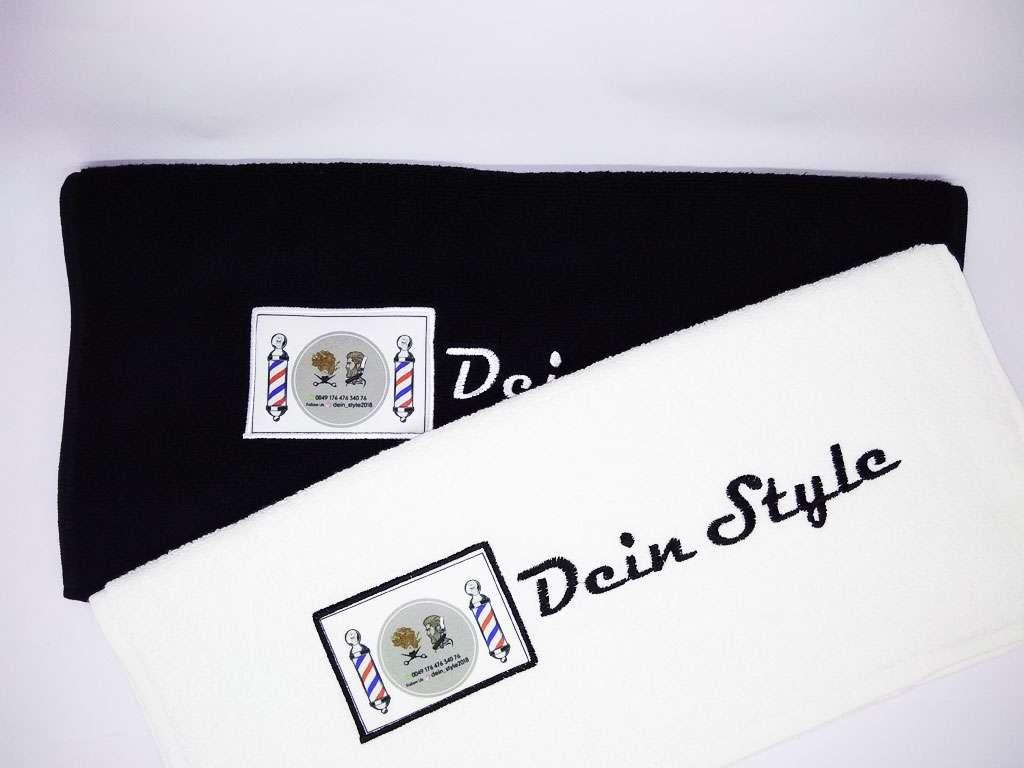 Kurumsal Havlu Logo Nakışlı Özel Tasarım 50x90  Siyah Beyaz Renkli Havlu