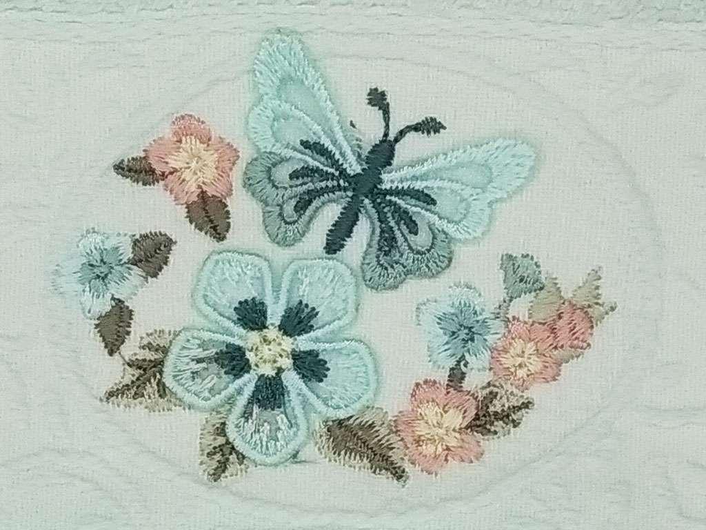 12'li Şaheser Kelebek 3D Nakışlı 30*50 Mutfak Havlusu