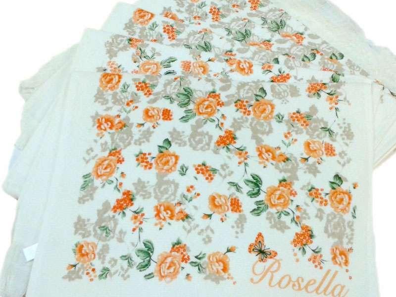 12li 40*60 Kadife Baskılı Mutfak Havlusu Çiçekler