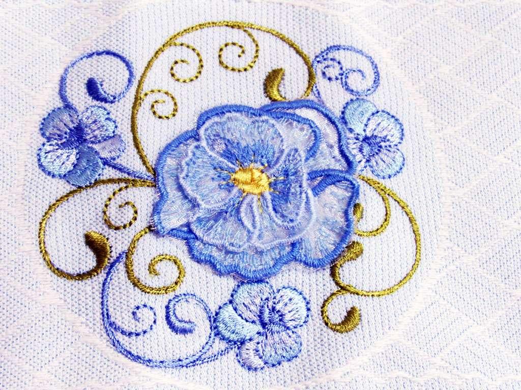 6'lı Nurpak Yaren Hareketli Nakışlı Pamuklu 50*90 Havlu-Çiçek