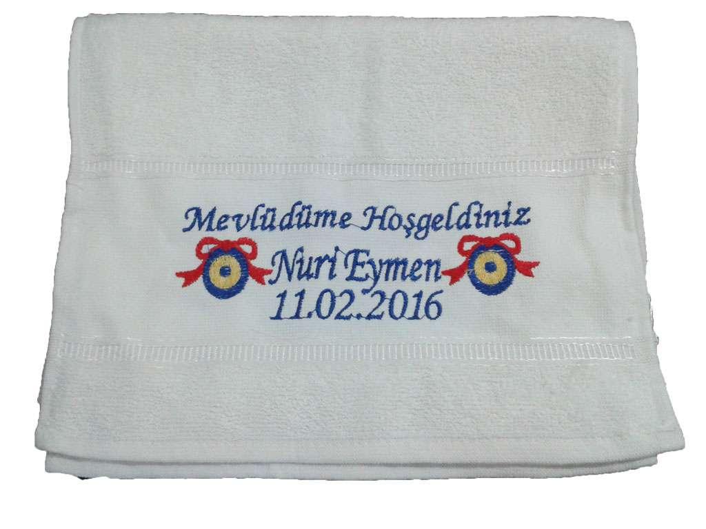 İsim Yazılı Sünnet Hatırası Havlusu 30x50 Nuri