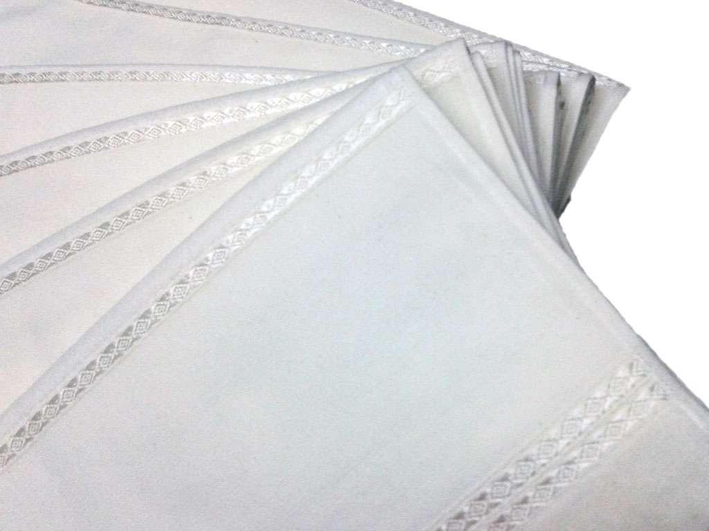 6'lı  Kardelen Ara Boşluklu Düz 50x85 Kadife Havlu Beyaz