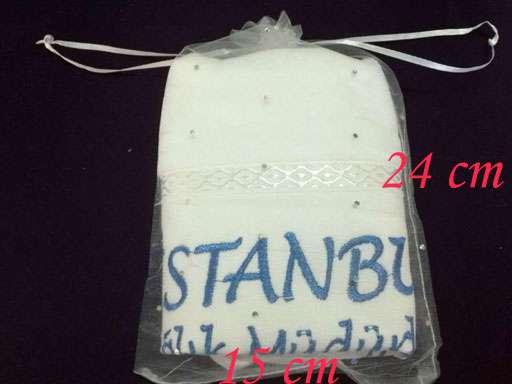 Tül  Kese 15x24cm Organze Kese 30x50 Havlu İçin (havlu dahil değildir)