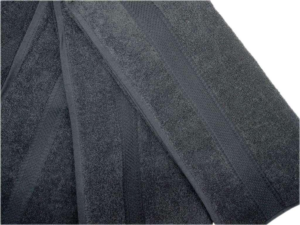12'li Özbal Renkli Kuaför Havlusu Siyah Havlu