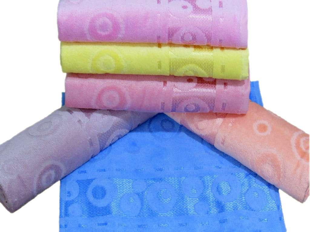 12'li Paket Kadife Jakarlı Şelale Renkli 30x50 Mutfak Havlusu