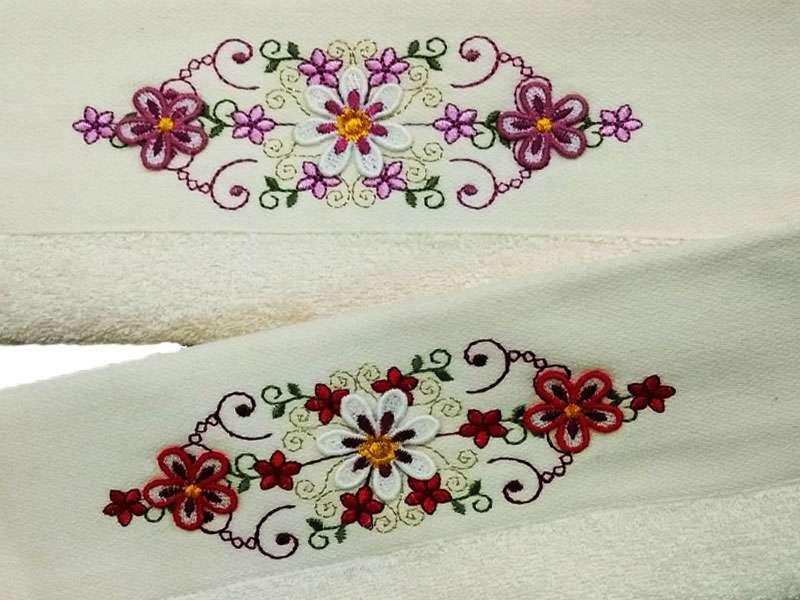 12'li Şaheser 3D Çiçek Nakışlı 30*50 Bukle Mutfak Havlusu