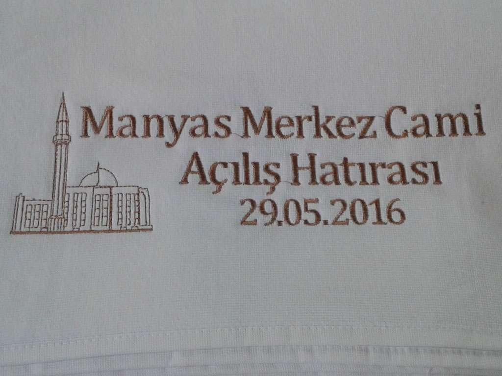 Cami Siluetli Açılış Hatırası Havlusu 50x90 Kadife