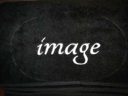 Kurumsal Havlu Özel Tasarım 50x90 Siyah Renkli