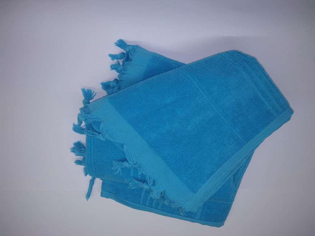 Havlu Peştemal Saçaklı %100 Penye Pamuk 80x180 Mavi