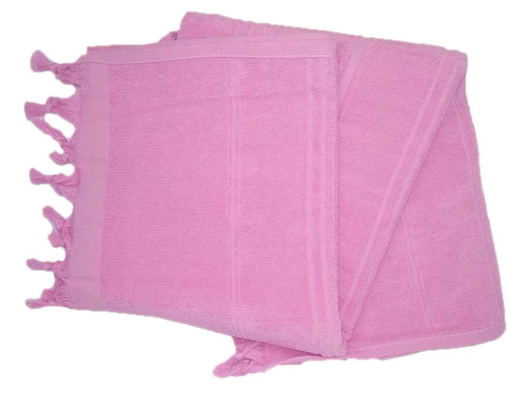 Havlu Peştemal Saçaklı %100 Penye Pamuk 80x180 Pembe