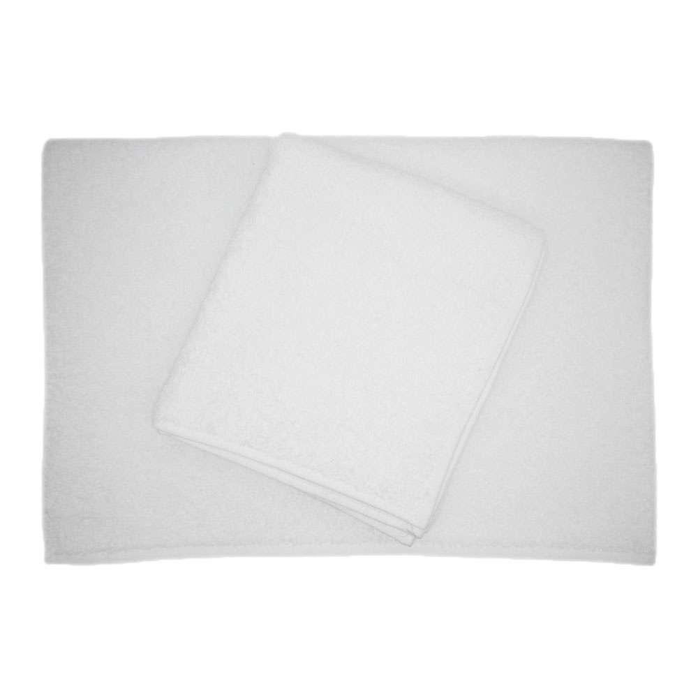 Belinda 2'li Set Baş Havlusu ve Banyo Havlusu Beyaz