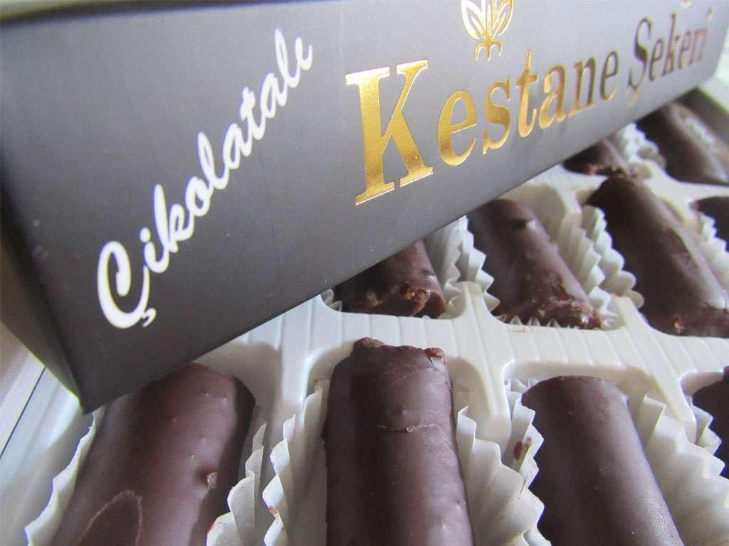 Çikolatalı Kestane Şekeri Büyük Lüks Boy