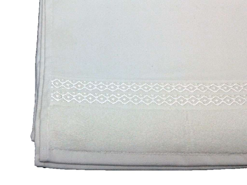 6' lı Fiesta Boş BUKLE İşlemelik 50x90 Havlu Beyaz