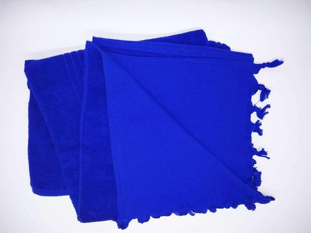Havlu Peştemal Saçaklı %100 Penye Pamuk 80x180 Lacivert