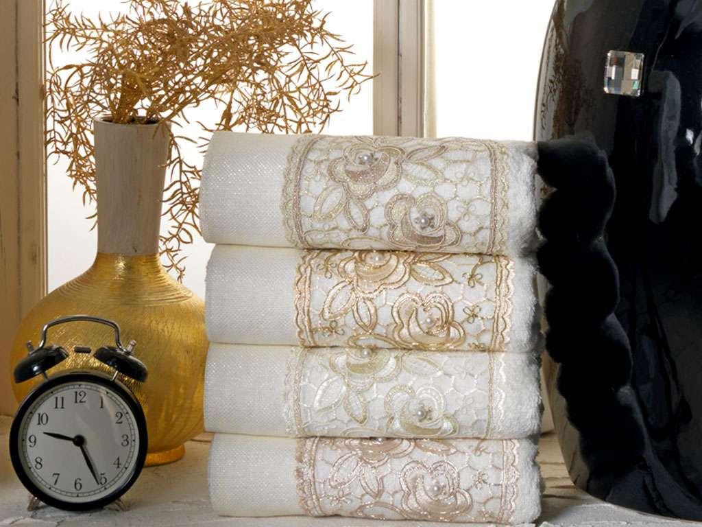 Kesme Güpürlü 50x90 Bamboo Havlu Glorıa Anna Karina Premium