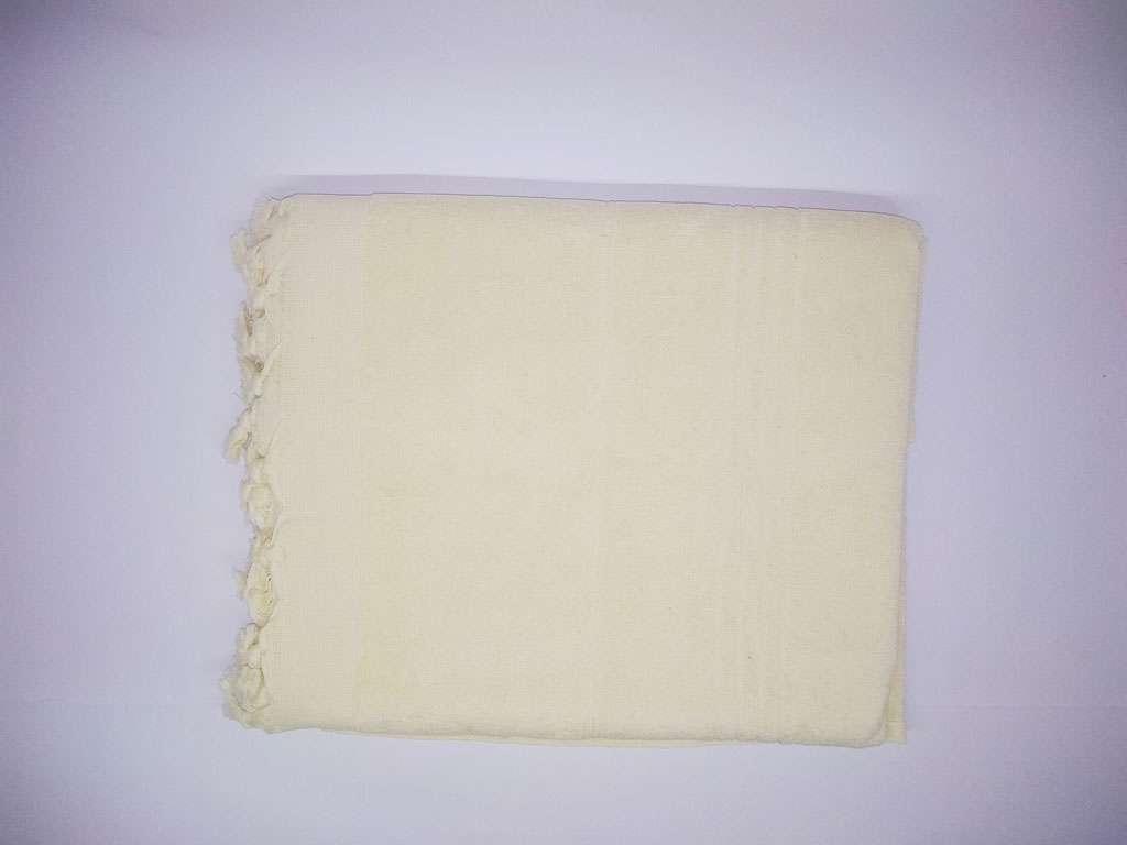 Havlu Peştemal Saçaklı %100 Penye Pamuk 80x180 Ekru