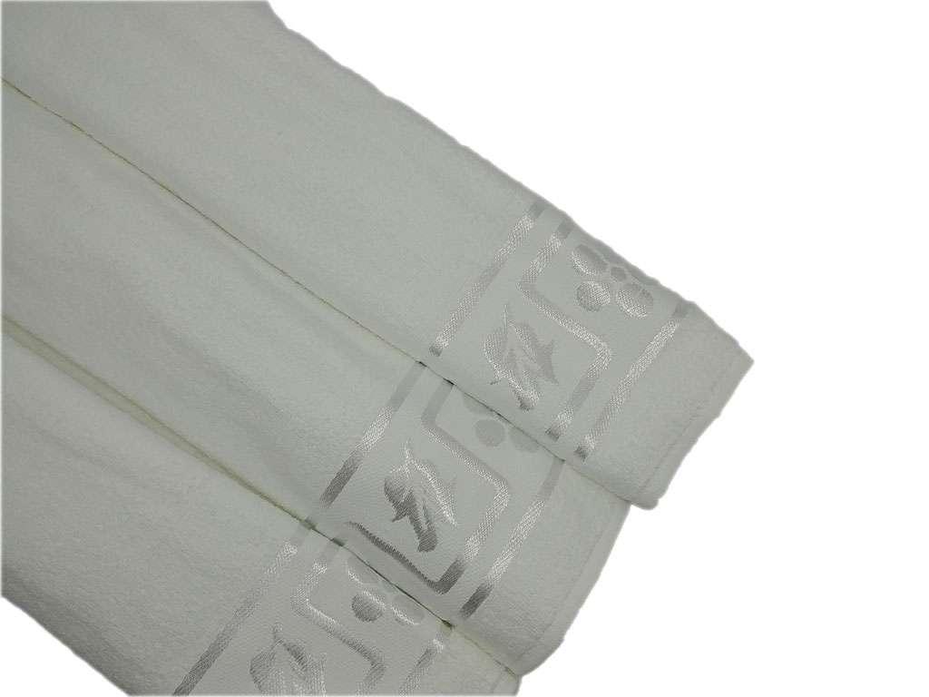 Özpak Beyaz Yaprak Jakarlı 50X90 El-Yüz Havlusu