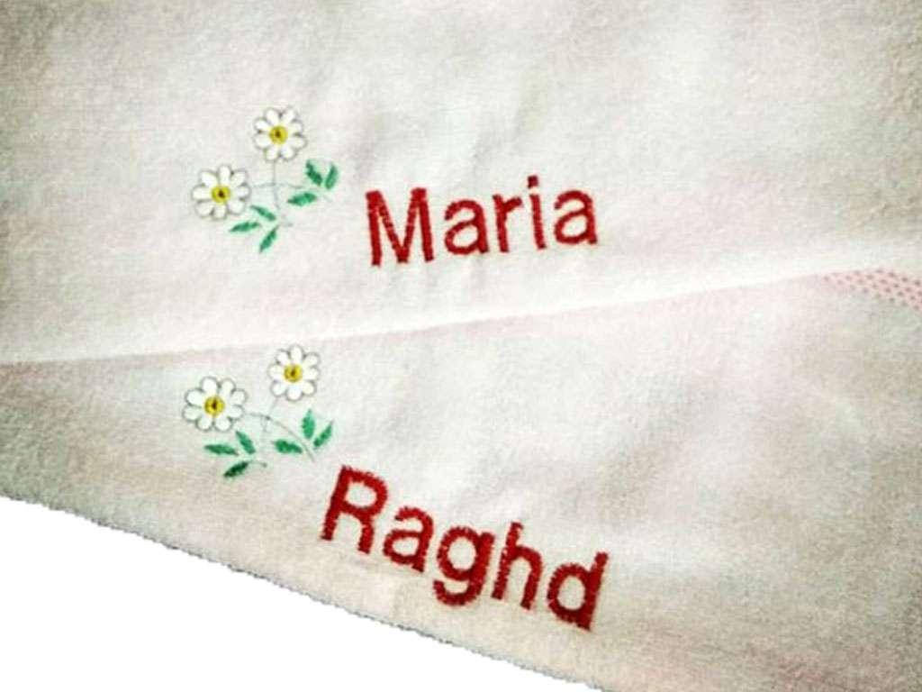 İsme Özel Havlu  50x90 El Yüz Havlusu Maria Raghd