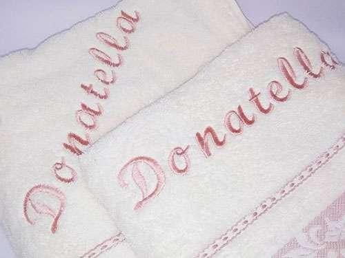 İsme Özel Havlu  Duş ve Baş Havlusu Set Donatella