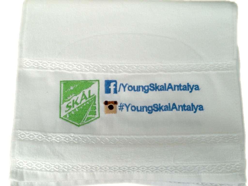 Firma Logolu Sloganlı 30x50 Havlu
