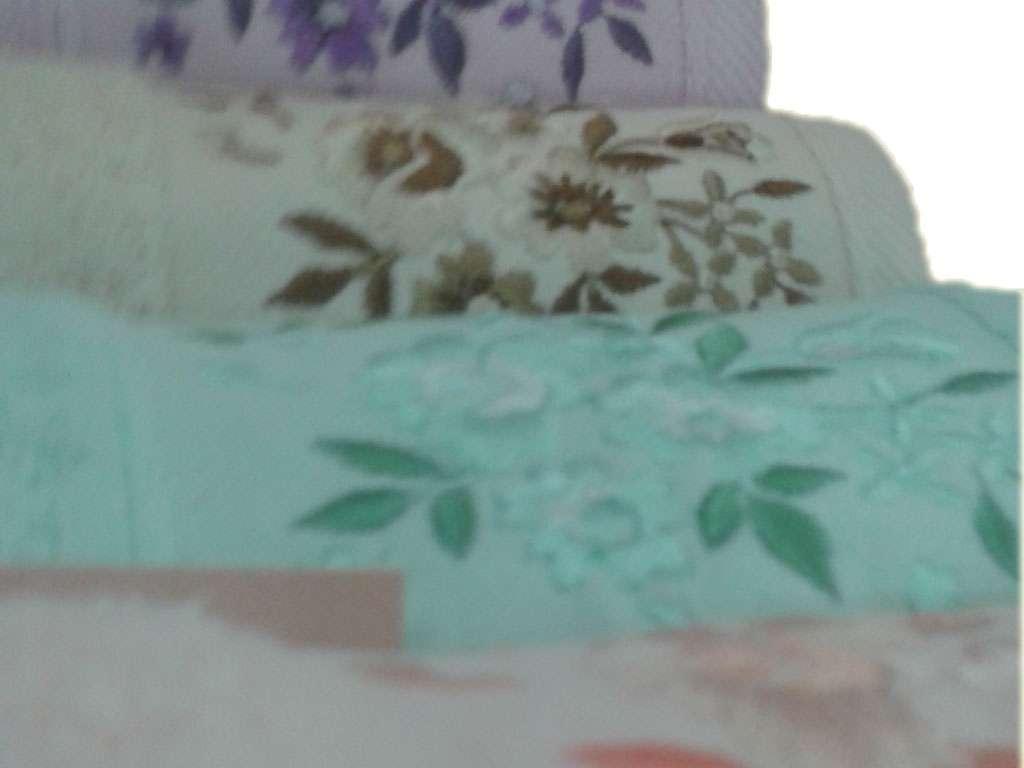 12'li Gonca Soft Nakışlı El Yüz Havlusu 50x90