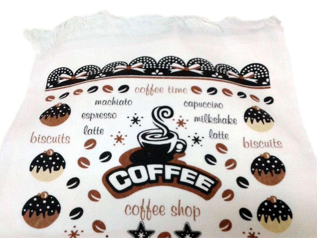 12li 40*60 Kadife Baskılı Mutfak Havlusu Coffee