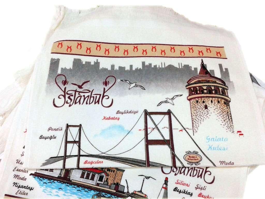 12li 40*60 Kadife Baskılı Mutfak Havlusu İstanbul