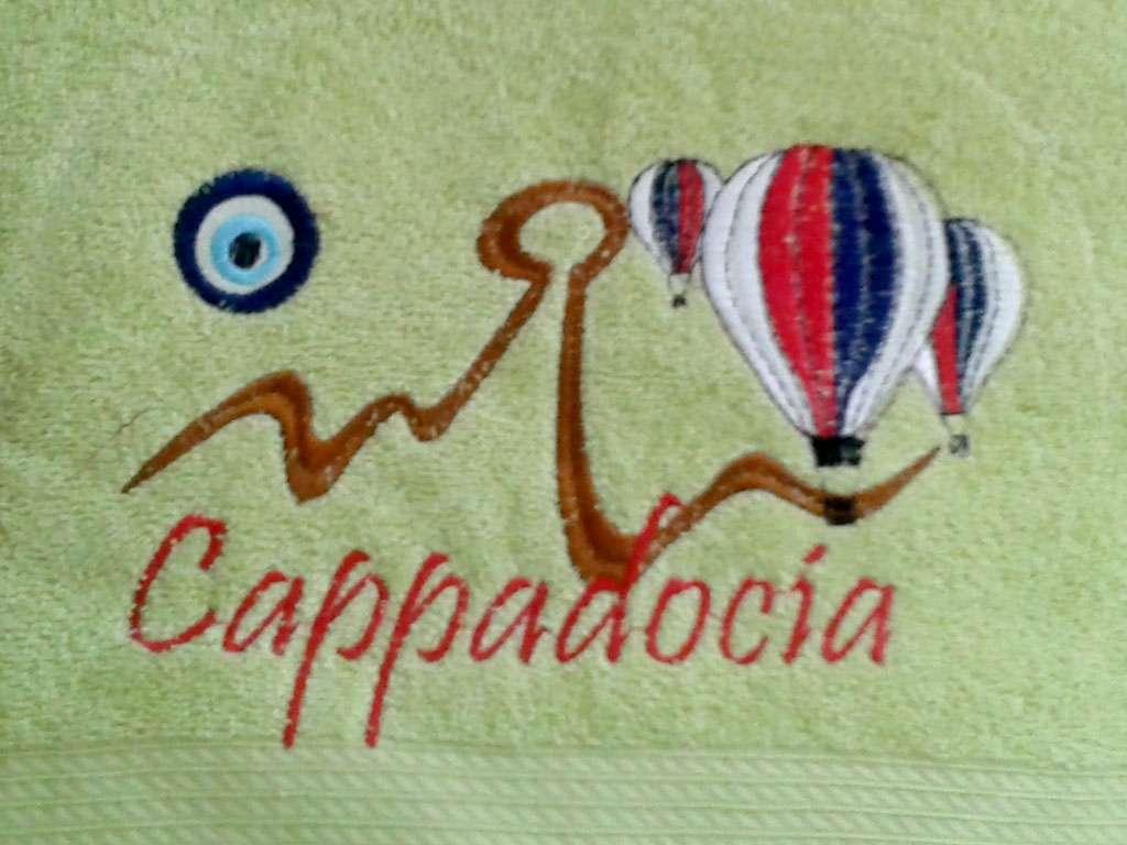 100x150 Şehir Logolu Banyo Havlusu Kapadokya Hatırası