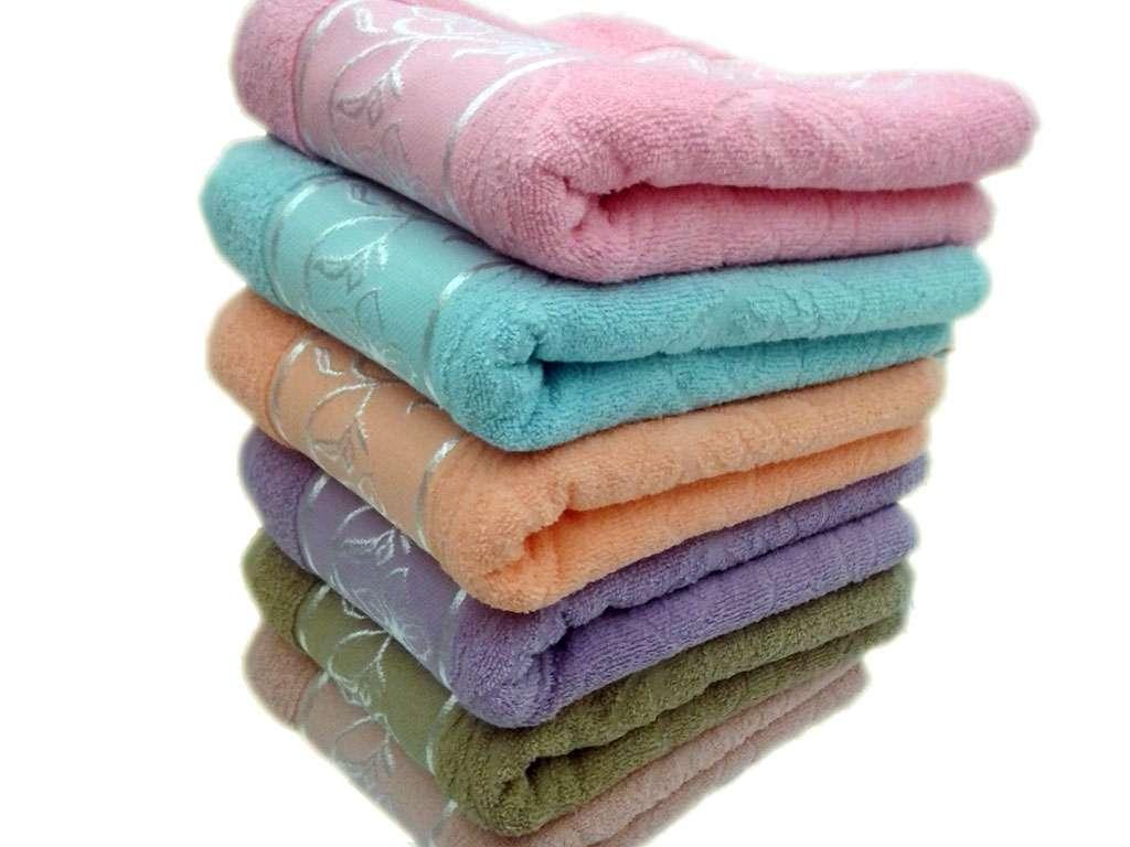 12'li Çınar Jakarlı Renkli Havlu