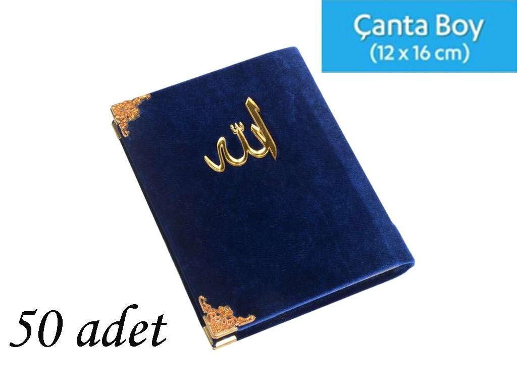 Kadife Kaplı Yasin Kitabı Allah Lafzı Aynalı Çanta Boy 50 adet