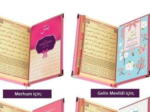Kadife Kaplı Yasin Kitabı Ayetel Kursi Aynalı Çanta Boy 50 adet