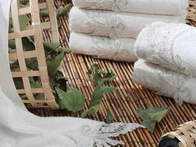 6'lı Dantela Vita Kurdela Fransız Güpürlü Bamboo 50*90 Krem Havlu