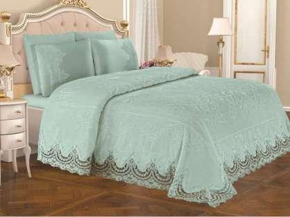 Anna Karina Home Battaniyeli Set İpek Pudra